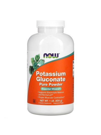 Now Foods Potassium Gluconate 100% Pure Powder, 454 g
