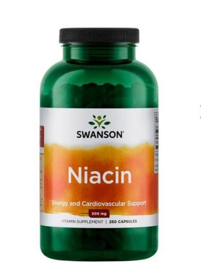Swanson Niacin 500 mg 250 Kapseln