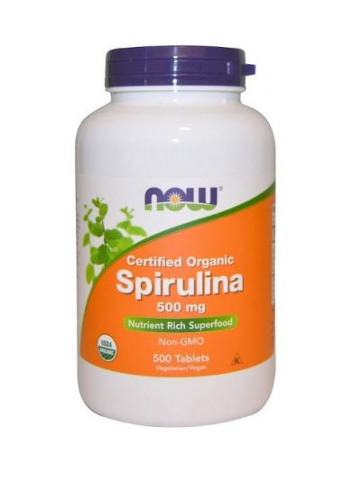 Now Foods Spirulina Zertifiziert BIO 500 mg 500 Tabletten
