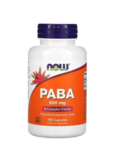 Now Foods PABA 500 mg 100 capsules
