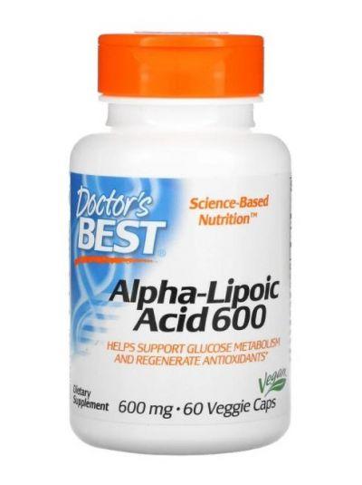 Doctor's Best Alpha-Lipoic Acid, 600 mg, 60 Veggie Caps