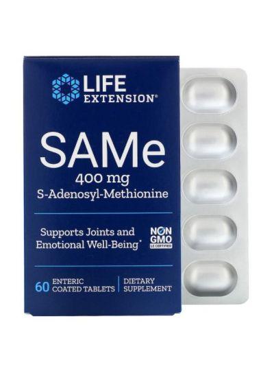 Life Extension, SAMe, S-Adenosyl-Methionin, 400 mg, 60 magensaftresistente Tabletten