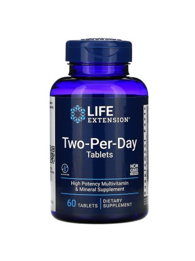 LIFE EXTENSION TWO-PER-DAY TABLETS, 60 TABLETTEN