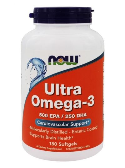 Now Foods Ultra Omega-3 500 EPA/250 DHA 180 Softgels