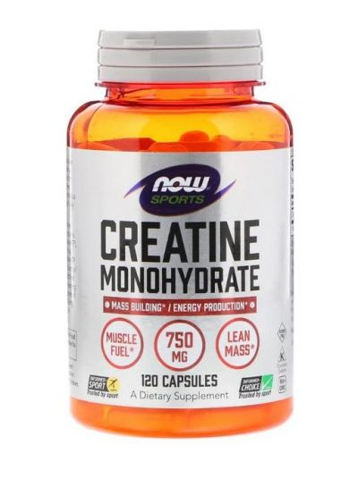 Now Foods Kreatine Monohydrate 750 mg 120 Kapseln