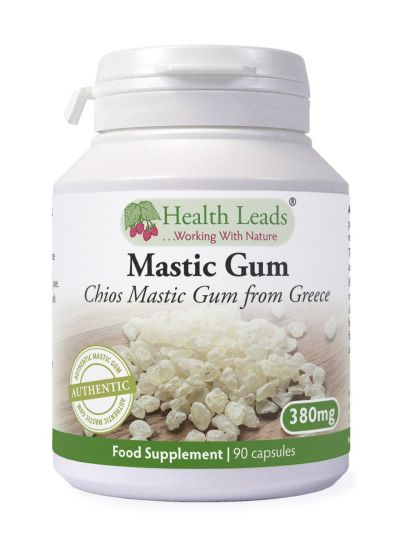 HEALTH LEADS MASTIC GUM 380 MG X 90 Capsules