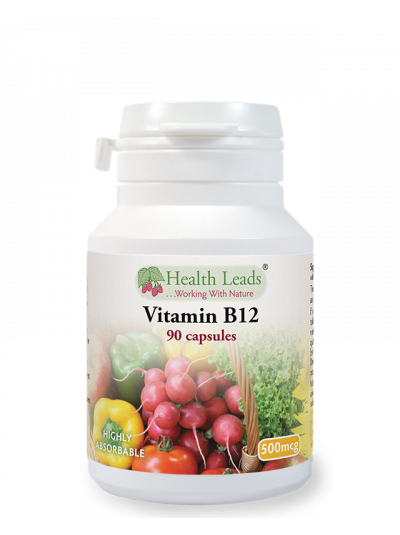 Health Leads Vitamin B12 500mcg x 90 capsules