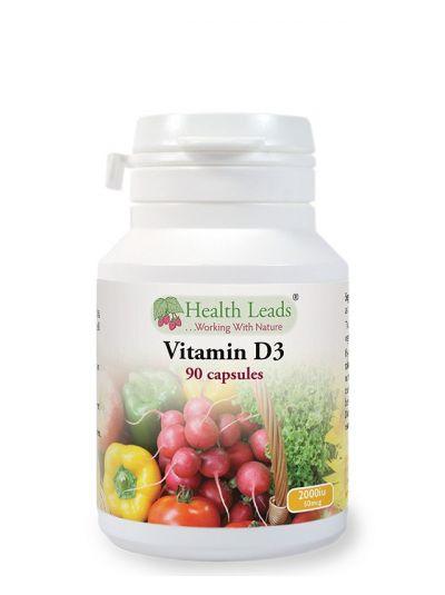 HEALTH LEADS VITAMIN D3 2000 IU 90 CAPSULES