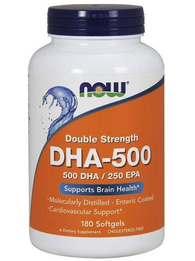 NOW FOODS DHA-500/EPA-250 DOPPELTE STÄRKE 180 SOFTGELKAPSELN
