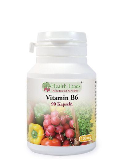 Health Leads Vitamin B6 (Pyridoxine) 100mg x 90 Kapseln