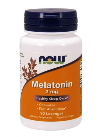 NOW FOODS MELATONIN 3 MG 90 LUTSCHTABLETTEN