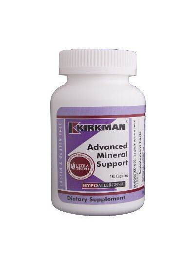 Kirkman Labs ADVANCED MINERAL SUPPORT HYPOALLERGENIC 180 CAPSULES