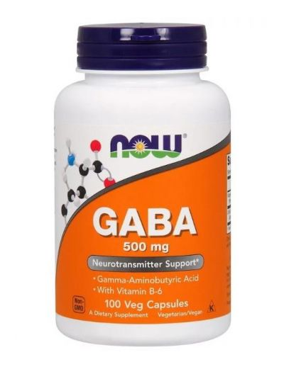 Now Foods GABA 500 mg with B6 100 vegetable capsules