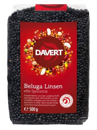 Davert Beluga Linsen, schwarz 500g