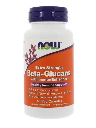 Now Foods Beta-Glucans mit ImmunEnhancer Extra Stärke 250 mg 60 Veg Capsules
