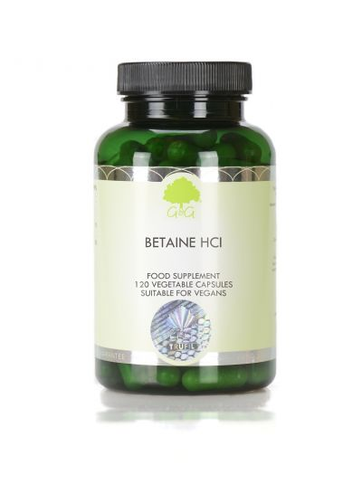 G&G VITAMINS BETAINE HCL 480 MG 120 CAPSULES