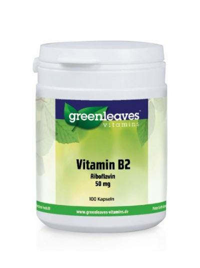 Green Leaves Vitamins Vitamin B2 (Riboflavin) 50 mg 100 Kapseln