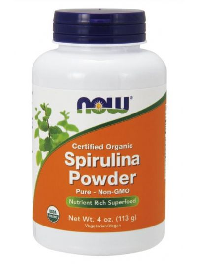 Now Foods Certified Organic Spirulina Powder (113 g)