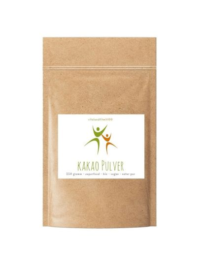 Vitalundfitmit100 Bio Kakao Pulver (Peru) 250 g