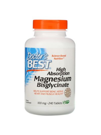 Doctor's Best High Absorption Magnesium Bisglycinate 100 mg 240 Tablets