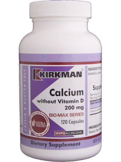 Calcium 200 mg w/o Vitamin D 120 CAPSULES - HYPOALLERGENIC