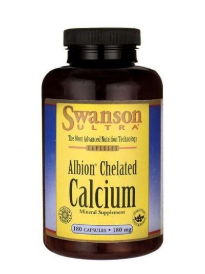 SWANSON ALBION CHELATED CALCIUM GLYCINATE 180 MG 180 CAPSULES