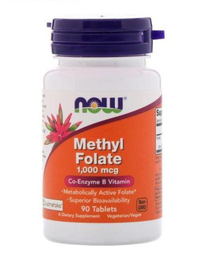 Now Foods Methylfolat (m. Quatrefolic) 1.000 mcg 90 Tabletten
