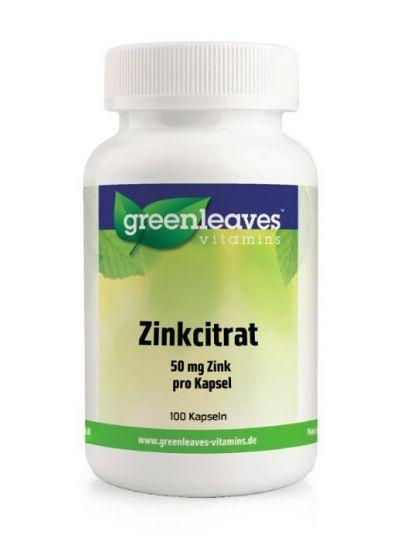 Green leaves ZINKCITRAT 50 mg 100 Kapseln