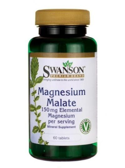 Swanson Magnesium Malate (150 mg Elementares) 60 Tabletten