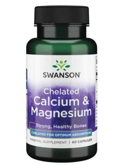 SWANSON ULTRA ALBION CHELATED CALCIUM & MAGNESIUM GLYCINATE 60 CAPSULES