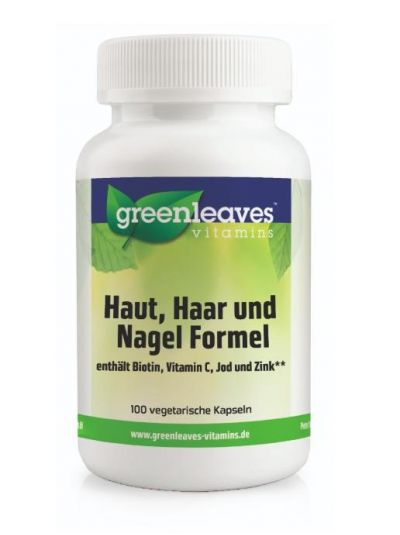 Green Leaves HAUT, HAAR UND NAGEL FORMEL100 Kaps