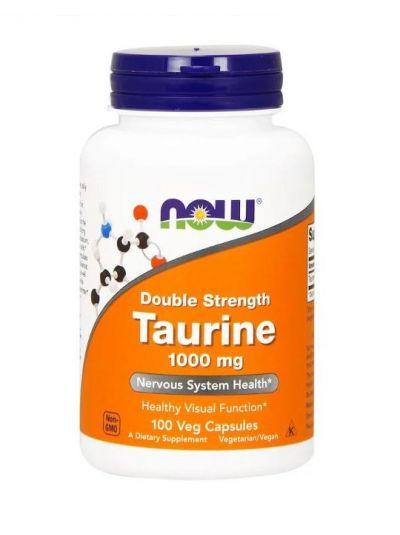 Now Foods Taurin doppelte Stärke 1000 mg 100 vegetarische Kapseln