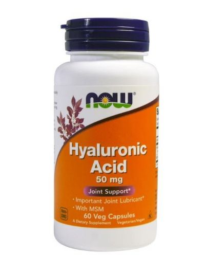 Now Foods Hyaluronsäure mit MSM 50 mg, 60 Veggie-Kapseln