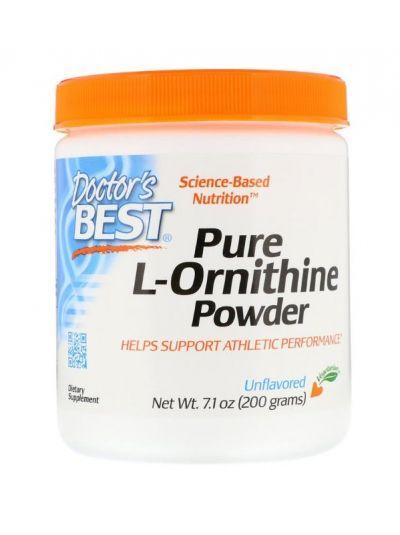 Doctor's Best Reines L-Ornithin Pulver Ohne Geschmackszusätze 200 g