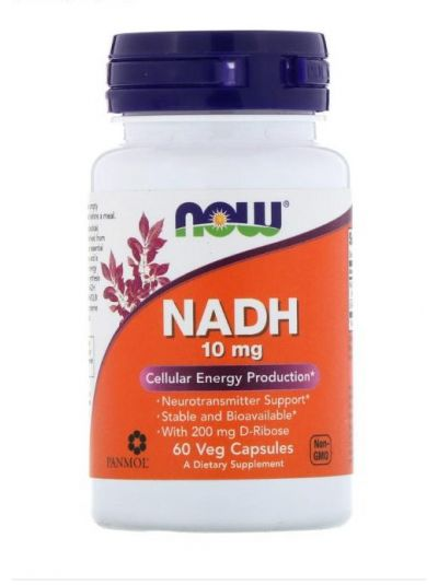 Now Foods NADH 10 mg 60 pflanzliche Kapseln