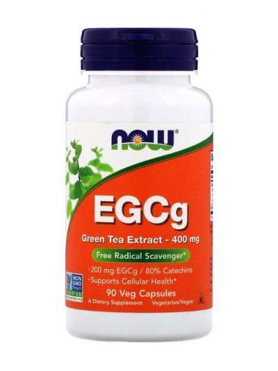 Now Foods EGCg Extrakt aus Grünem Tee 400 mg 90 vegetarische Kapseln