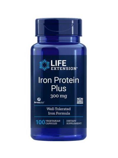 Life Extension IRON PROTEIN PLUS 300 mg 100 vege Kapseln