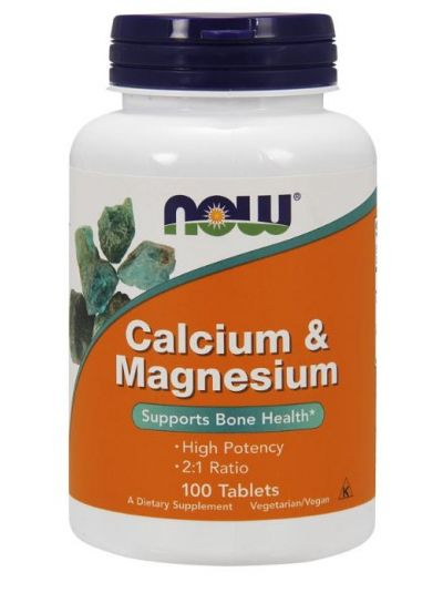 Now Foods Kalzium & Magnesium 2:1 ratio 100 Tabletten