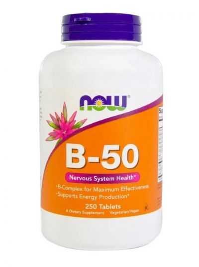 Now Foods Vitamin B-50, 250 Tabletten