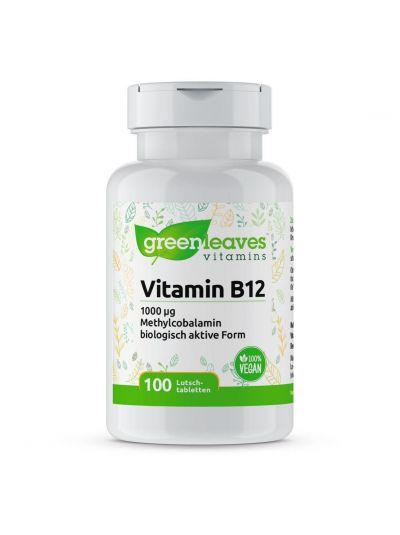 Green Leaves VITAMIN B12 1000 MCG 100 LUTSCHTABLETTEN