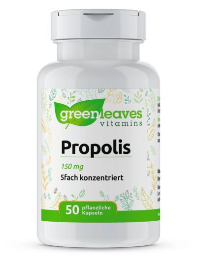 Green Leaves Propolis 150 mg (5fach konzentriert - entsprechend 750 mg) 50 Kapseln