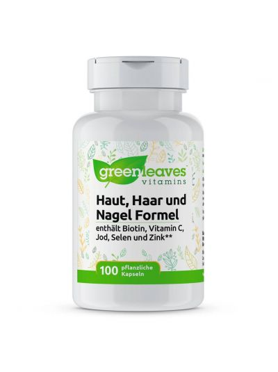 Green Leaves HAUT, HAAR UND NAGEL FORMEL100 Kaps
