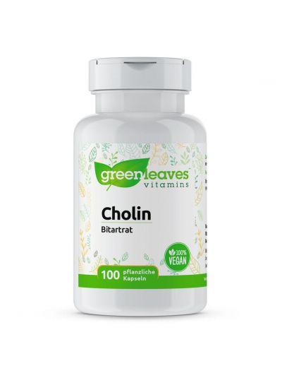 Green Leaves CHOLIN BITARTRAT 500 MG 100 Kapseln