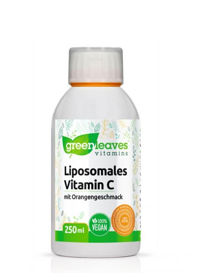 Green Leaves Liposomales Vitamin C mit Orangengeschmack 250 ml