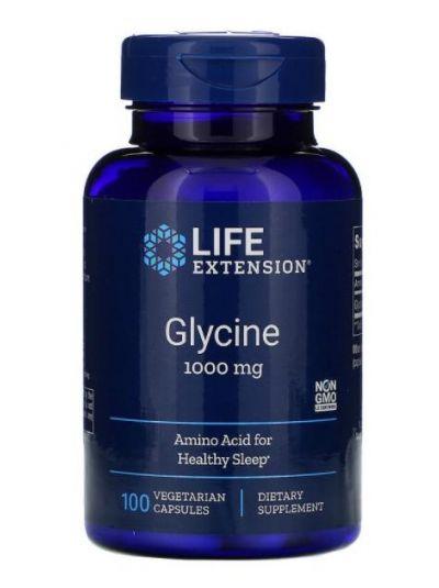 Life Extension, Glycin, 1.000 mg, 100 Vegetarische Kapseln
