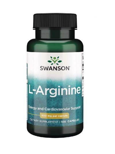 Swanson L-Arginine, 500 mg, 100 Capsules