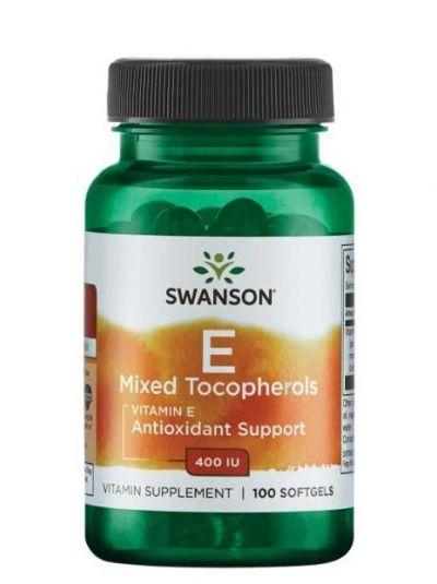 Swanson Vitamin E Mixed Tocopherols 400 IU 100 Softgels