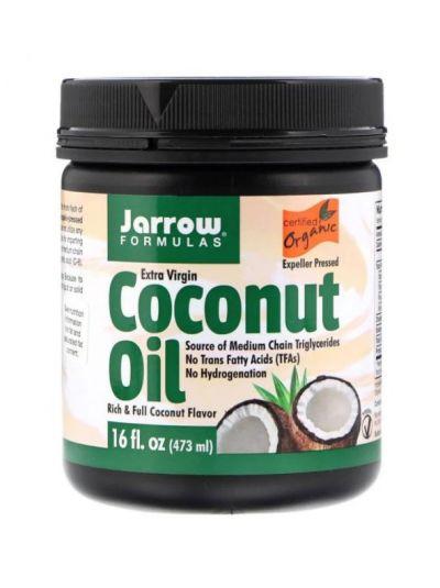 Jarrow Formulas Extra-natives Bio-Kokosnussöl, Vertreiber-gepresst, 473 g
