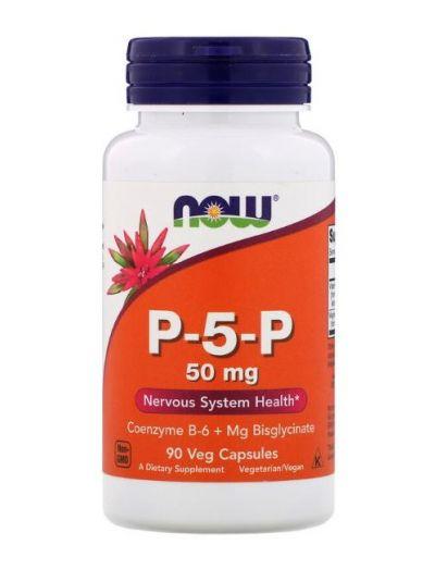 Now Foods Vitamin B6 P-5-P (Pyridoxal-5-phosphat) 50 mg 90 vegetarische Kapseln