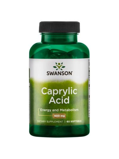 Swanson Caprylsäure 600 mg 60 Softgels